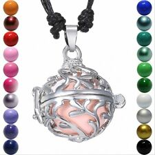 Hollow out Leaf Locket Pendant Harmony Ball Aromatherapy Necklace Branch Jewelry
