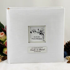 White Wedding Album - 200 Photos - Personalised - Add a Name & Message