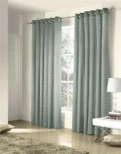 SAVOY DUCK EGG EMBROIDERED CHAIN LINK LINED RING TOP CURTAINS #ZTIR AS