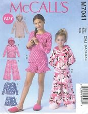 McCall's 7041 Girls' / Teens' Tops, Dress, Shorts and Pants    Sewing Pattern