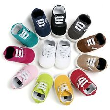 Newborn Baby Boys Girls Soft Sole Toddler Infant Sneaker Shoes Prewalker 0-18M