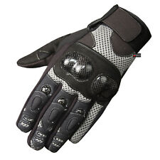 New Men's Motorcycle Ventilated Protected Carbon Fiber Street Riding Gloves