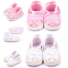 Toddle Baby Girl Lace Princess Sandals Kids Soft Sole Anti-slip Crib Shoes 0-18M
