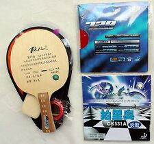 Allround Ti+Carbon Long-Pips + Pips-in Custom-made Table Tennis Bat