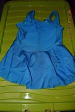 Kingfisher ruched front sleeveless skirted ballet dance lycrical leotard / dress