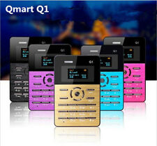 Qmart Q1 Vibration Bluetooth Mini Ultrathin Card OLED Screen Cell Mobile Phone