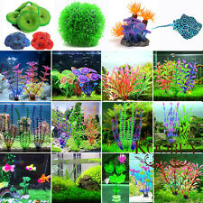 Artificial Plastic Water Grass Green Plant Ornament For Fish Tank Aquariums