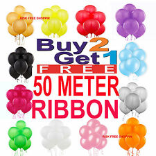 "10"" High Quality LATEX BALLOONS Choice of 16 Colours - Birthday Party Decoration"