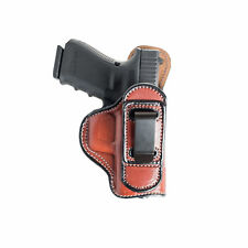 TUCKABLE LEATHER HOLSTER FOR BERETTA 9MM NANO - BLACK/BROWN - RIGHT/LEFT