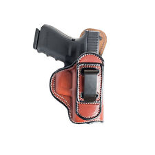 TUCKABLE LEATHER HOLSTER FOR BERETTA PX4 STORM - BLACK/BROWN - RIGHT/LEFT