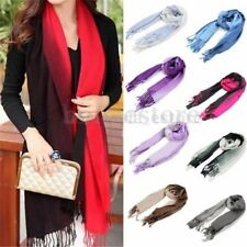 Women Ladies Shawl Wrap Tassels Long Wool Scarf Pashmina Stole Gradient Color