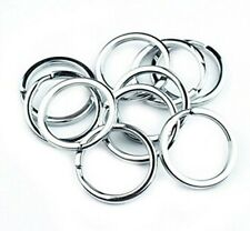 10/15/20PCS/Lot 25mm Metal Loop Key Ring Silver Nickel Plated Hoop Keyring NEW