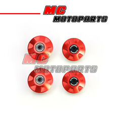 Red CNC Billet Frame Plugs Kit For Ducati Monster 900 All Year 97 98 99