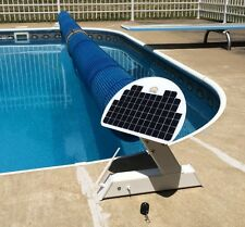 Automatic Solar Powered Remote Controlled Pool Cover Blanket Reel - Boy, so easy