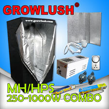 600w Magnetic Ballast MH/HPS Grow Light lamps Grow Tent Reflector Timer Combo