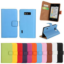 Phone Case Skin Genuine Leather Wallet Cover For LG Optimus L7 P705 P700 P705G