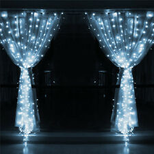 600 LED Fairy Curtains String light Christmas Wedding Party Light 6M*3M White