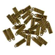 50pcs Antique Gold Silver Charms Pendants Made With Love Jewelry Accessories
