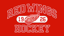 Detroit Red Wings 1926 NHL Mens Embroidered Polo Sport Shirts S-6XL New