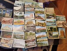 Vintage lot of Post Cards Lot Of 35 From 1930's & 1940's Most  With Stamps