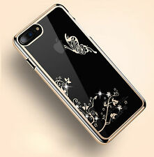 Luxury Diamond Bling Pattern Plated Hard PC Back Case Cover For Apple iPhone R