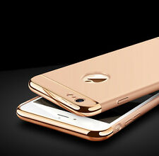 Luxury Ultra-thin Slim 3IN1 Plating PC Hard Back Cover Case For Apple iPhone