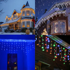 216 LED LED Outdoor Fairy Curtains String light for Xmas Wedding Party 110-220V