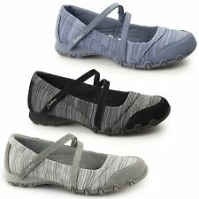 Skechers 49343 RELAXED FIT: BIKERS-RIPPLES Ladies Womens Slip-On Mary Jane Flats