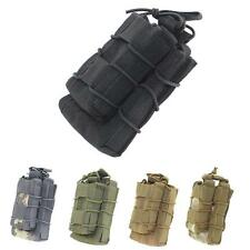 MOLLE Tactical Open Top Double Decker Single Rifle Pistol Mag Pouch Magazine Bag