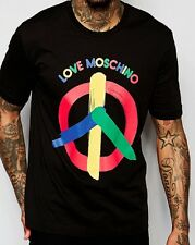 T SHIRT LOVE MOSCHINO PEACE BLACK
