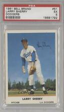1961 Bell Brand Los Angeles Dodgers #51 Larry Sherry PSA 5 Baseball Card