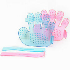 Dogs Bath Cleaning Brush Palm Shaped Adjustable Plastic Brush Massage Tool H