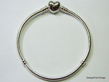 NEW! AUTHENTIC PANDORA BRACELET HEART CLASP 590719-18CM/7.1IN  BOX INCLUDED