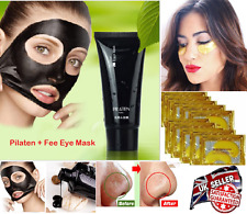 PILATEN Blackhead Remover Deep Cleansing Peel Acne Mud Face Mask + Free Eye Mask