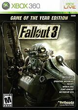 Fallout 3 -- Game of the Year Edition (Microsoft Xbox 360, 2009) Without Shrink