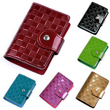 Lady Patent Leather ID Credit Card Case Holder Pocket Bag Wallet Organizor Witty