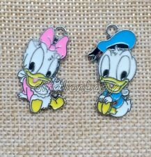 Lot Mixed Daisy Donald Duck Metal Charms Pendants DIY Jewelry Making M316