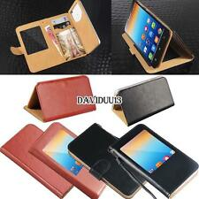 window view Flip Leather Wallet Stand Cover Case For Lenovo Series A SmartPhones