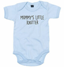 KNITTER BODY SUIT PERSONALISED MUMMY'S LITTLE BABY GROW NEWBORN GIFT