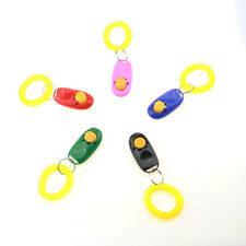 Dog Pet Cat Training Clicker Click Button Trainer Obedience Aid with Wrist Strap
