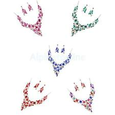 Fashion Party Wedding Bridal Rhinestone Crystal Statement Necklace Earrings Set