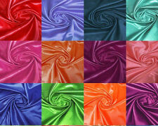 """60""""Wide Polyester Shiny Satin Fabric Material for Dress Decor Yardage 10-40"""