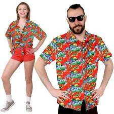UNISEX HAWAIIAN SHIRT BEACH PARTY FANCY DRESS LUAU LOUD HOLIDAY TOP HEN STAG