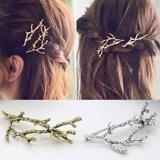 Women Vintage Antlers Branches Hair Pin Barrette Clip Hairpin Retro Jewelry Gift