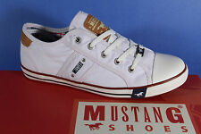 Mustang Canvas Lace up Sneakers Low Shoes white, Rubber sole 1099 NEW