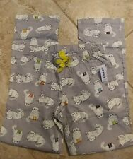 WOMENS OLD NAVY GREY PERSIAN CATS KITTENS FLANNEL LOUNGE WINTER PAJAMA PANTS XS