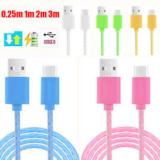 0.25M-3M Crystal Strong Wire Micro USB 2.0 Fast Data Sync Charger Charging Cable