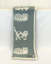 Pure Cotton Throw, Blanket, Cat, Cosy, Natural