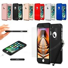 "For Apple iPhone 6 (4.7"") - Ultra Slim 360 Hard Case Front & Back Glass & Pen"