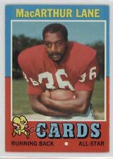 1971 Topps #135 MacArthur Lane St. Louis Cardinals Arizona RC Football Card